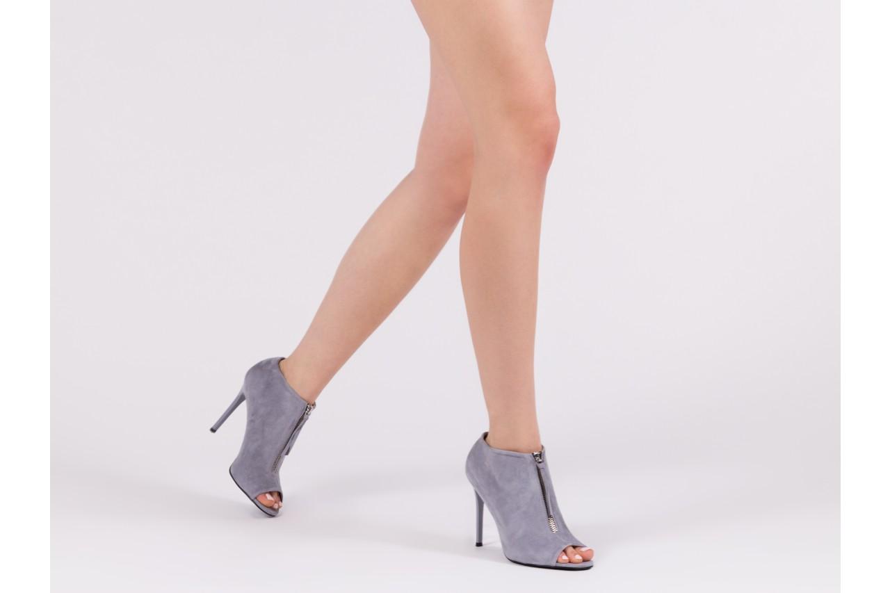 Botki bayla-056 2074-678 szary, skóra naturalna  - na szpilce - botki - buty damskie - kobieta 15