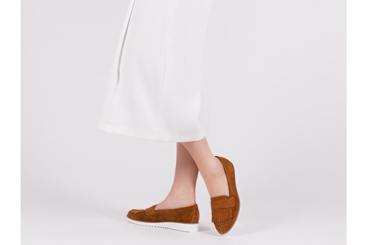 Mokasyny bayla-118 3076 crosta cuoio, brąz, skóra naturalna  - zamszowe - półbuty - buty damskie - kobieta 13