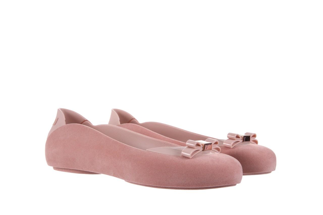 Baleriny melissa pump it flocked ad pink, róż, guma - melissa - nasze marki 7