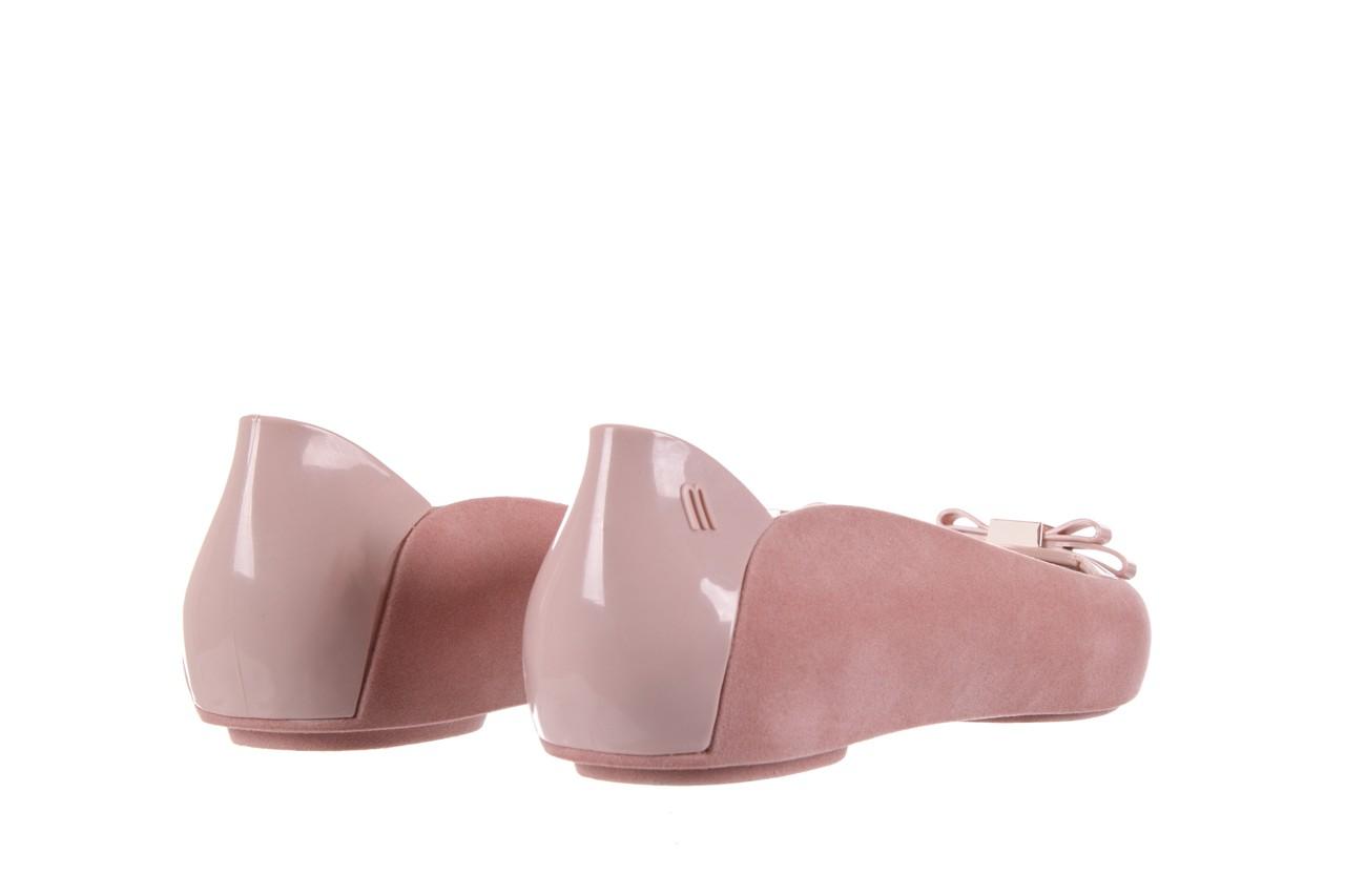 Baleriny melissa pump it flocked ad pink, róż, guma - melissa - nasze marki 9