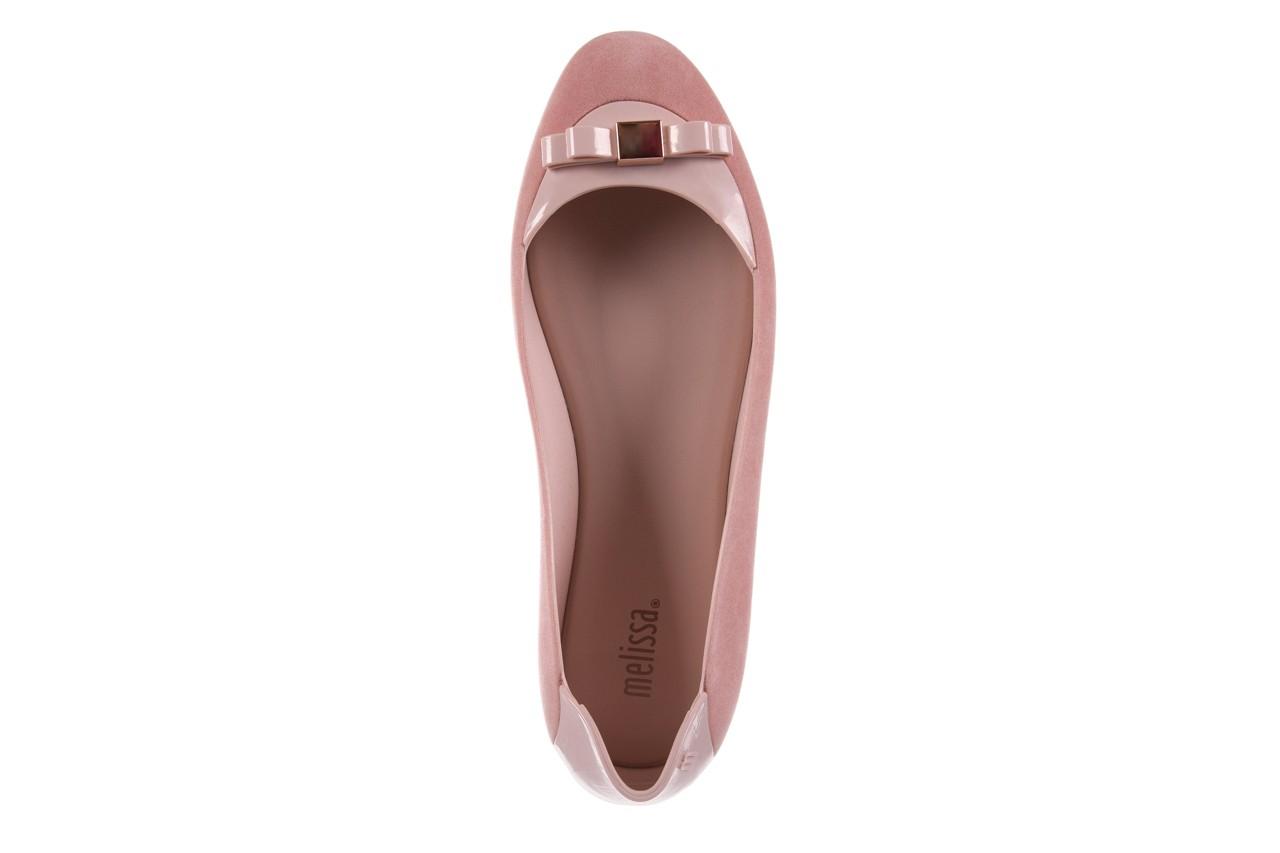 Baleriny melissa pump it flocked ad pink, róż, guma - melissa - nasze marki 10