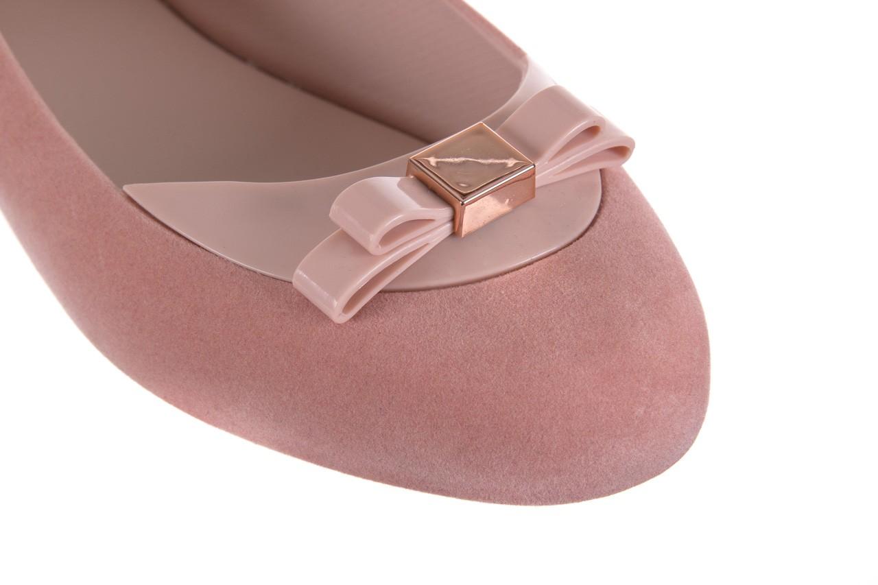 Baleriny melissa pump it flocked ad pink, róż, guma - melissa - nasze marki 11