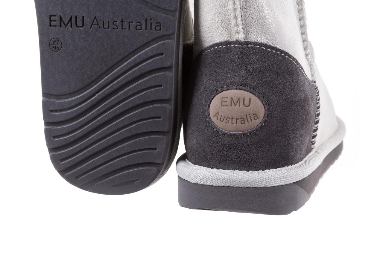 Śniegowce emu stinger metallic mini silver, srebrny, skóra naturalna  - emu - nasze marki 11
