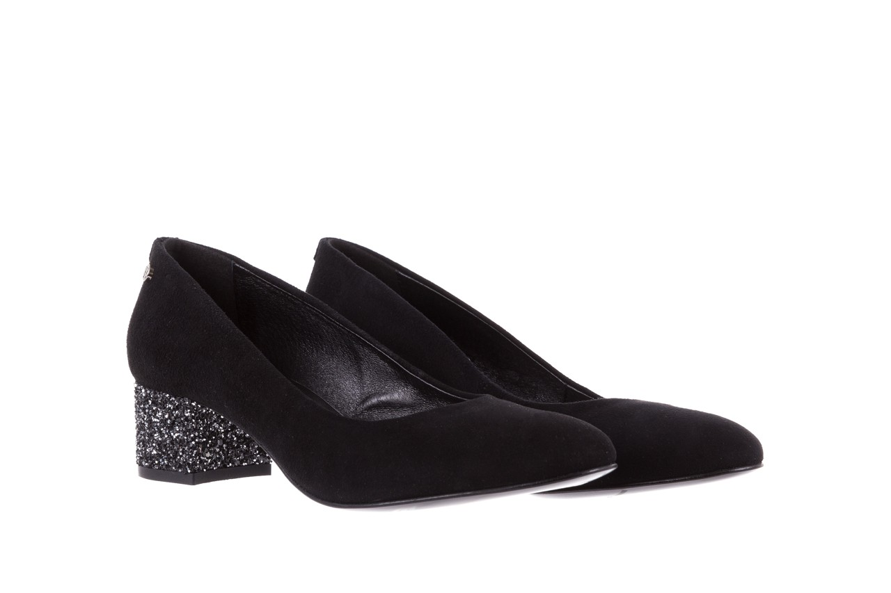 Czółenka bayla-172 m006 czarny, skóra naturalna - na słupku - czółenka - buty damskie - kobieta 9