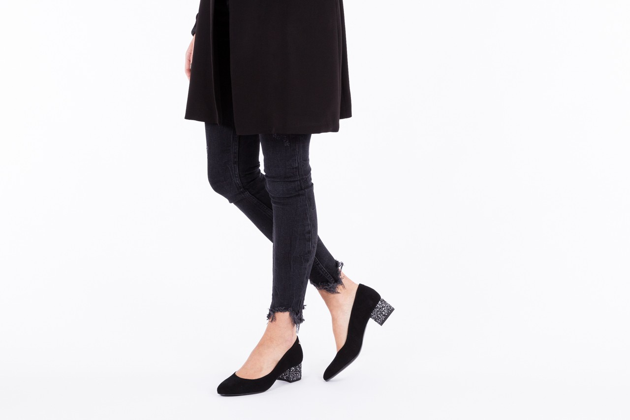 Czółenka bayla-172 m006 czarny, skóra naturalna - na słupku - czółenka - buty damskie - kobieta 10