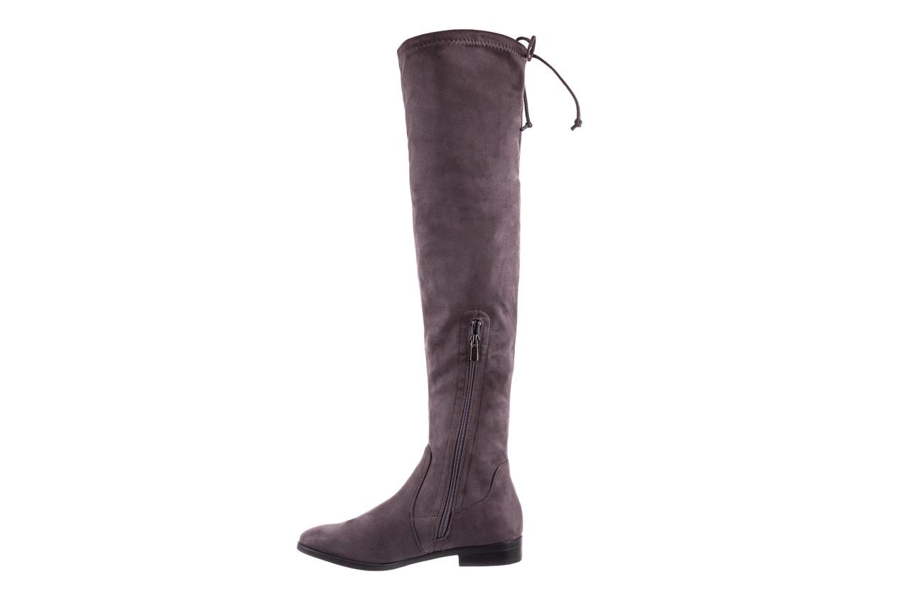 Kozaki bayla-175 16061-0396 grey, szary, materiał - kozaki - buty damskie - kobieta 9
