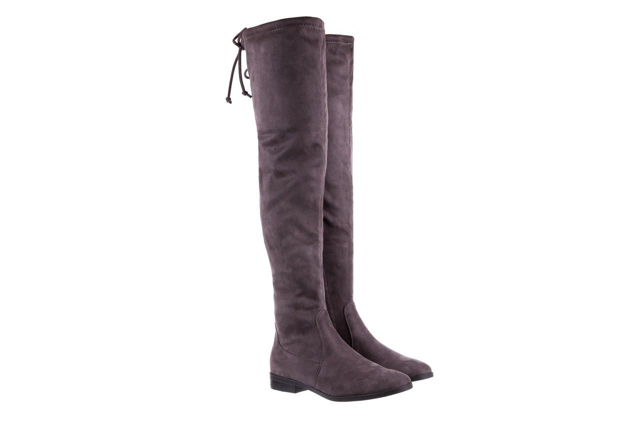 Kozaki bayla-175 16061-0396 grey, szary, materiał - kozaki - buty damskie - kobieta 8