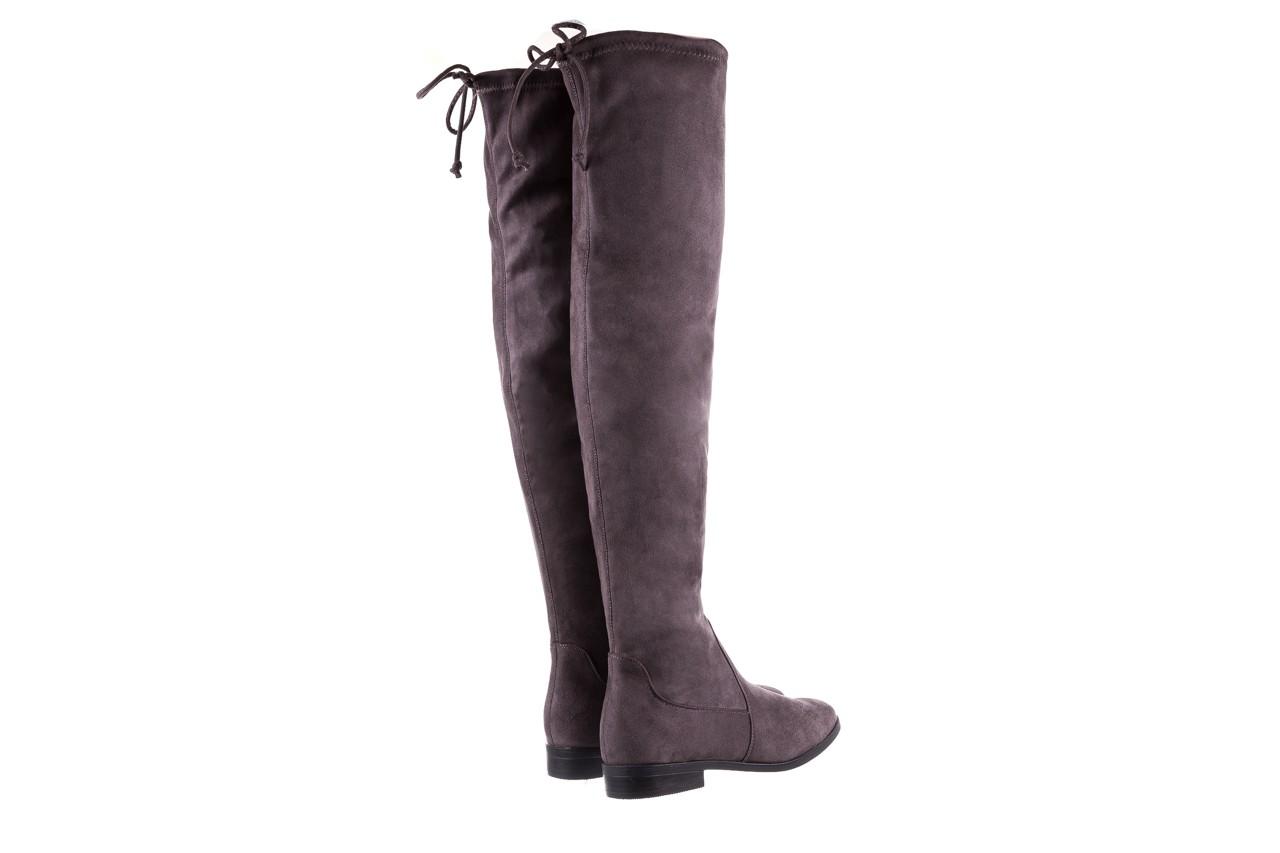 Kozaki bayla-175 16061-0396 grey, szary, materiał - kozaki - buty damskie - kobieta 10