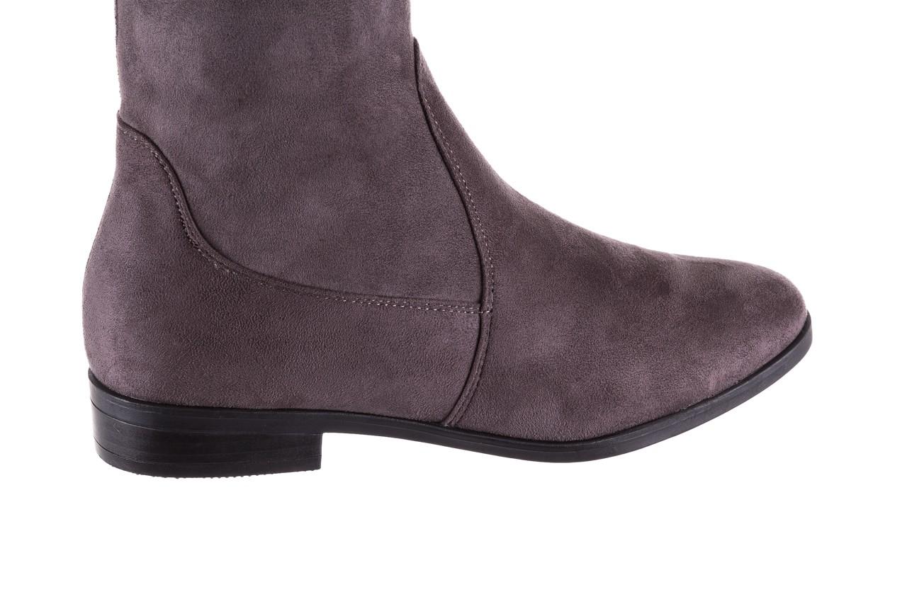 Kozaki bayla-175 16061-0396 grey, szary, materiał - kozaki - buty damskie - kobieta 11