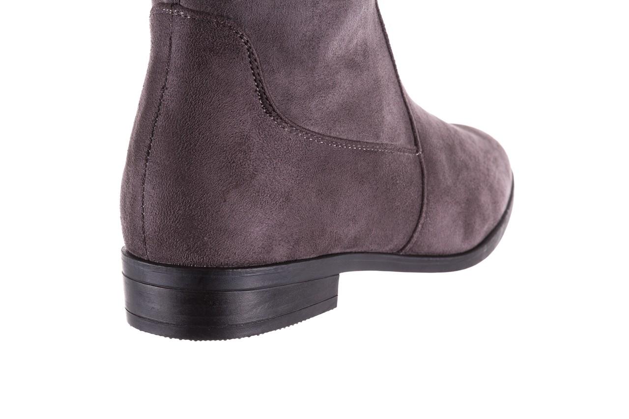 Kozaki bayla-175 16061-0396 grey, szary, materiał - kozaki - buty damskie - kobieta 12