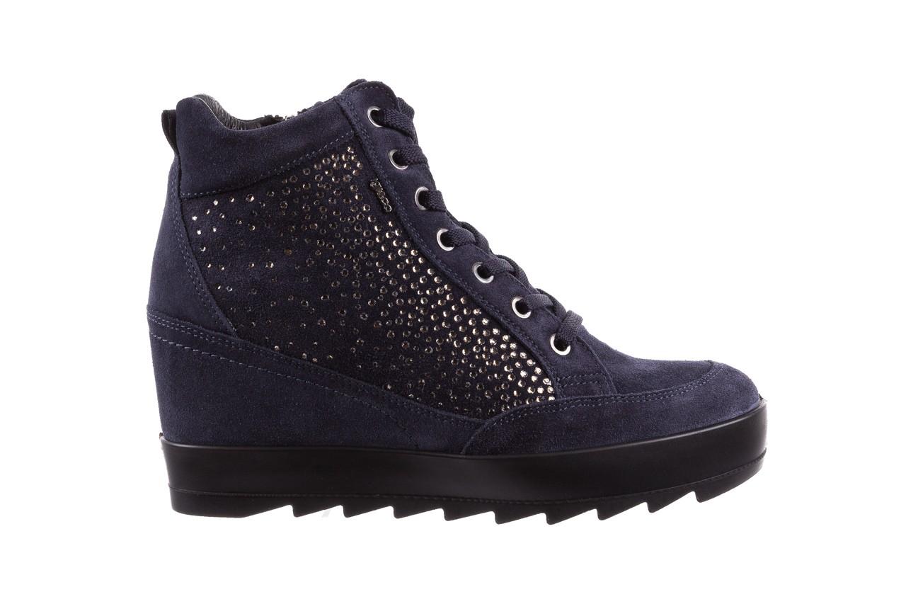 Sneakersy igi&co 8800200 blu, granat, skóra naturalna  - obuwie sportowe - buty damskie - kobieta 7