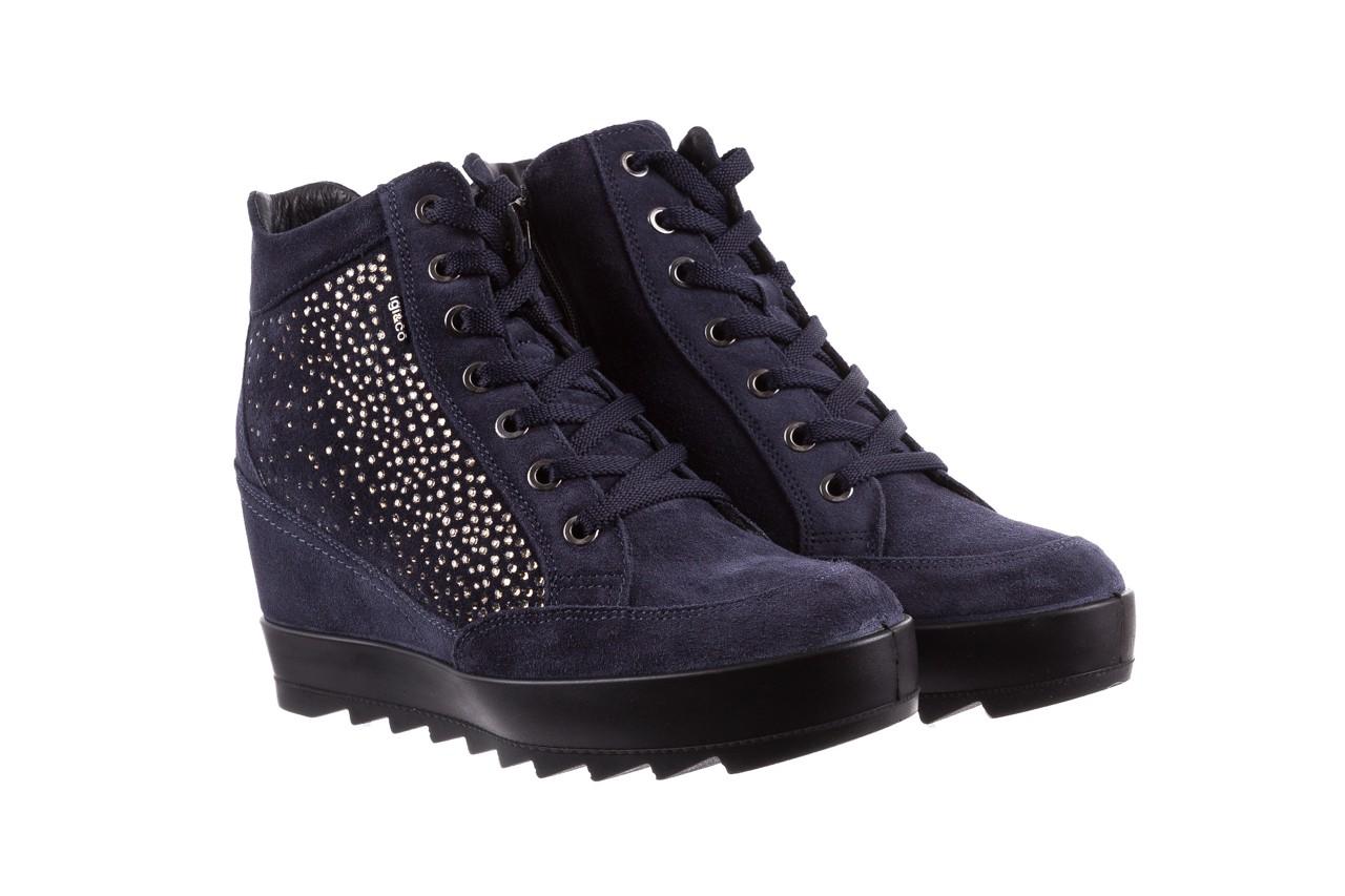 Sneakersy igi&co 8800200 blu, granat, skóra naturalna  - obuwie sportowe - buty damskie - kobieta 8