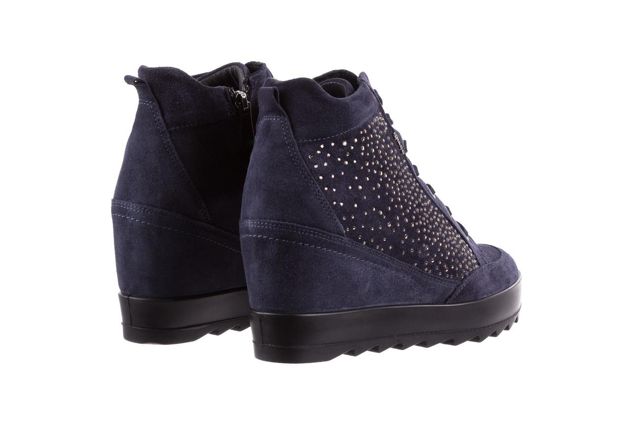 Sneakersy igi&co 8800200 blu, granat, skóra naturalna  - obuwie sportowe - buty damskie - kobieta 10