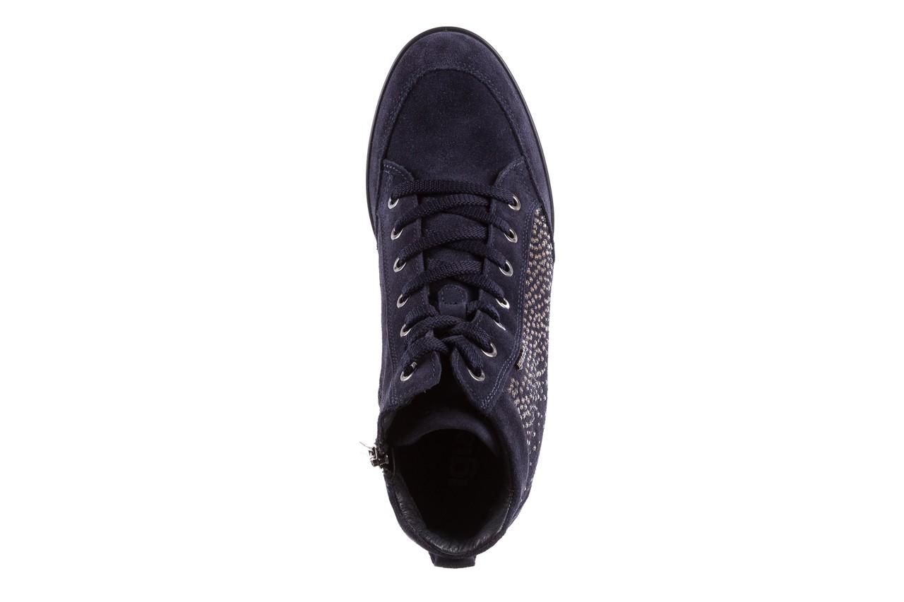 Sneakersy igi&co 8800200 blu, granat, skóra naturalna  - obuwie sportowe - buty damskie - kobieta 11