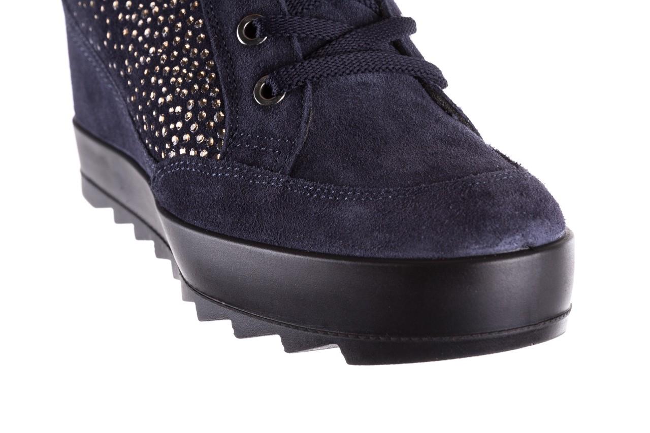 Sneakersy igi&co 8800200 blu, granat, skóra naturalna  - obuwie sportowe - buty damskie - kobieta 12