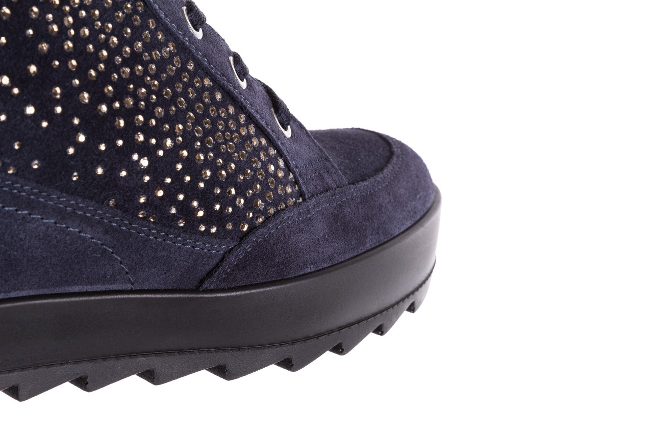 Sneakersy igi&co 8800200 blu, granat, skóra naturalna  - obuwie sportowe - buty damskie - kobieta 13