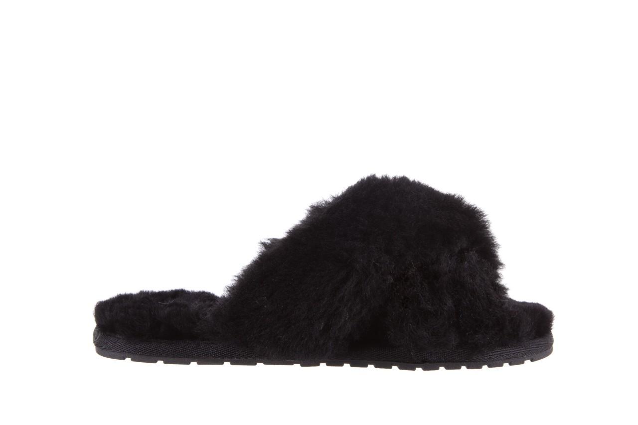 Klapki emu mayberry black, czarny, futro naturalne - kobieta 8