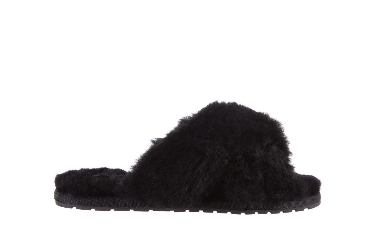 Klapki emu mayberry black 21 119127, czarny, futro naturalne  - klapki - buty damskie - kobieta 8