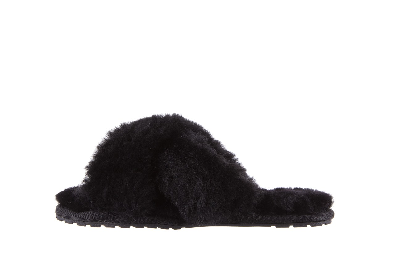 Klapki emu mayberry black, czarny, futro naturalne - kobieta 11