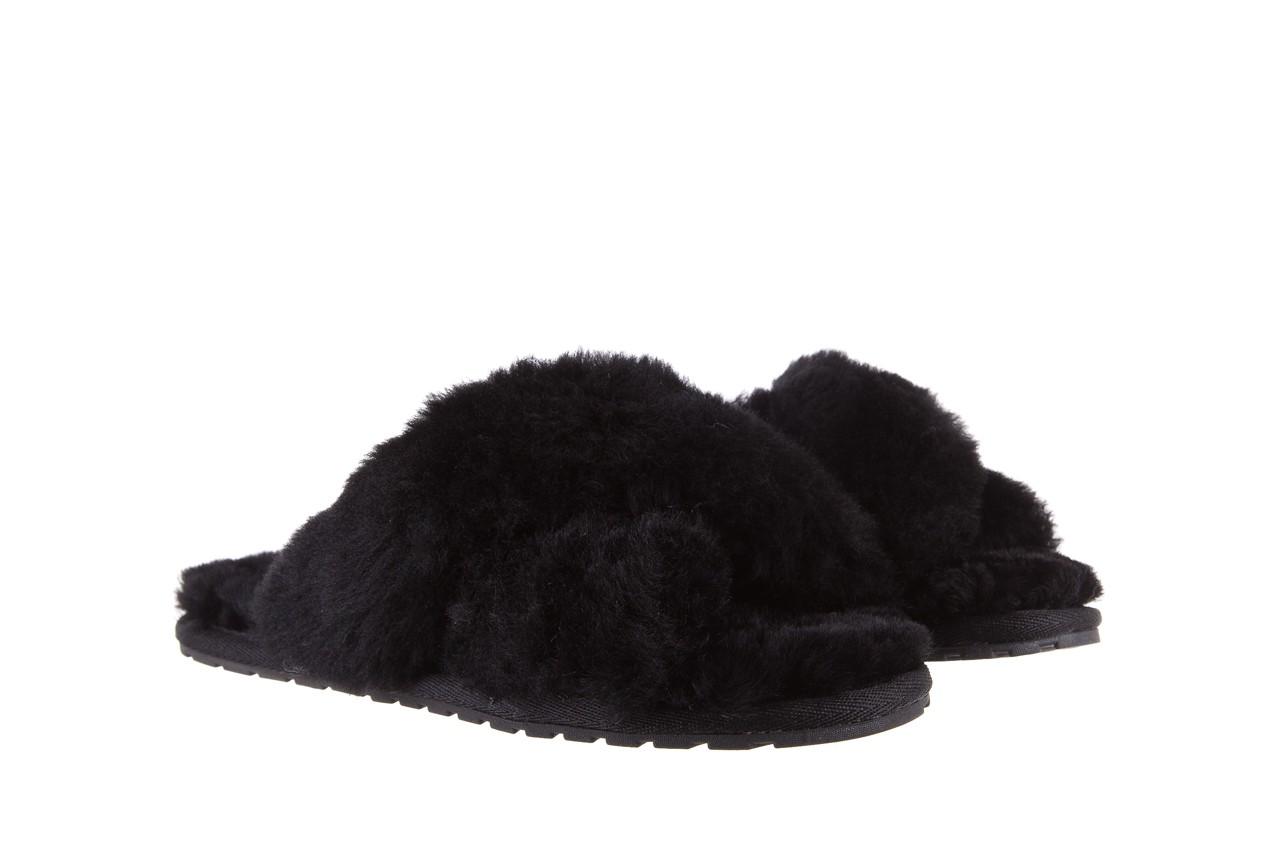 Klapki emu mayberry black, czarny, futro naturalne - kobieta 9