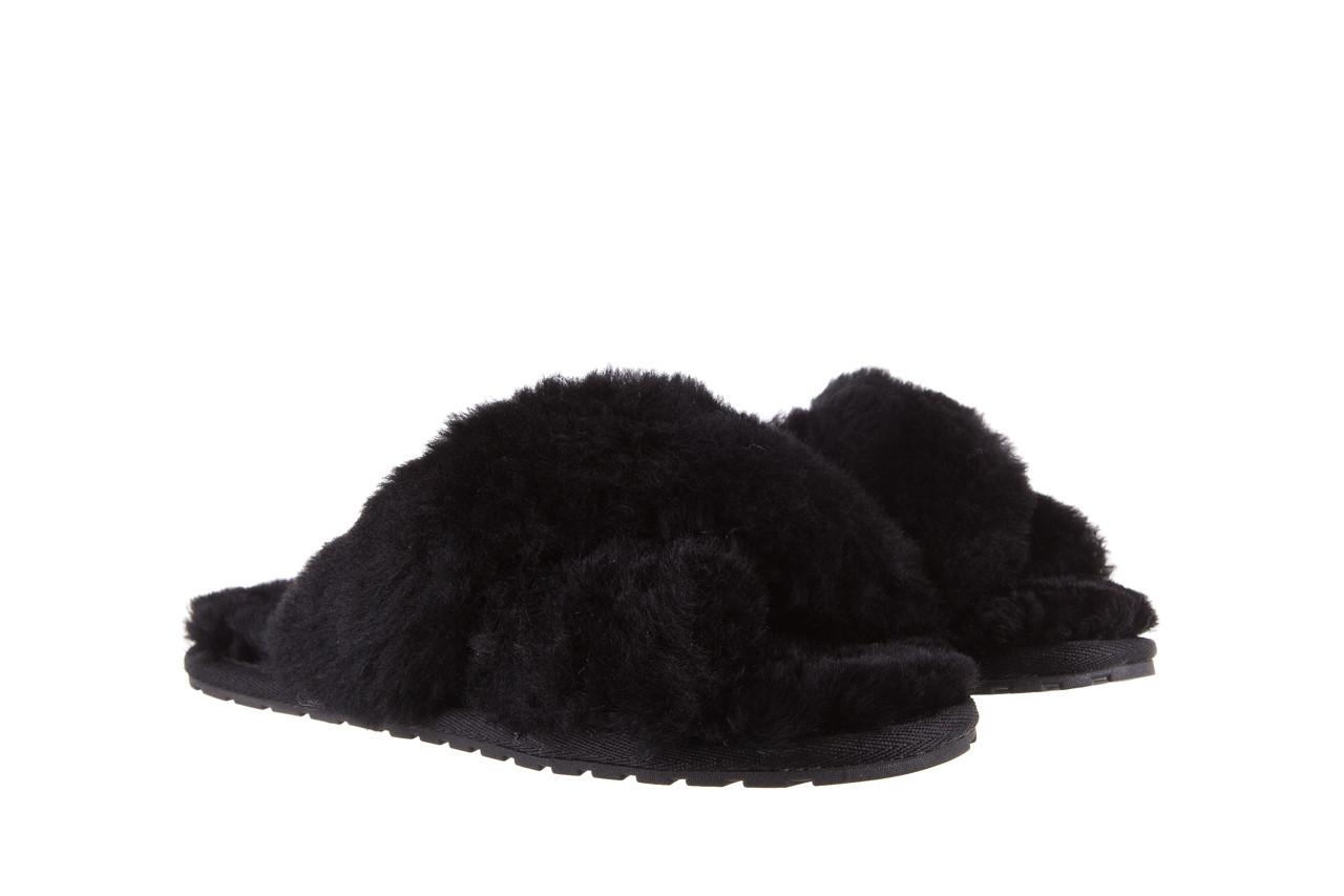 Klapki emu mayberry black 21 119127, czarny, futro naturalne  - klapki - buty damskie - kobieta 9