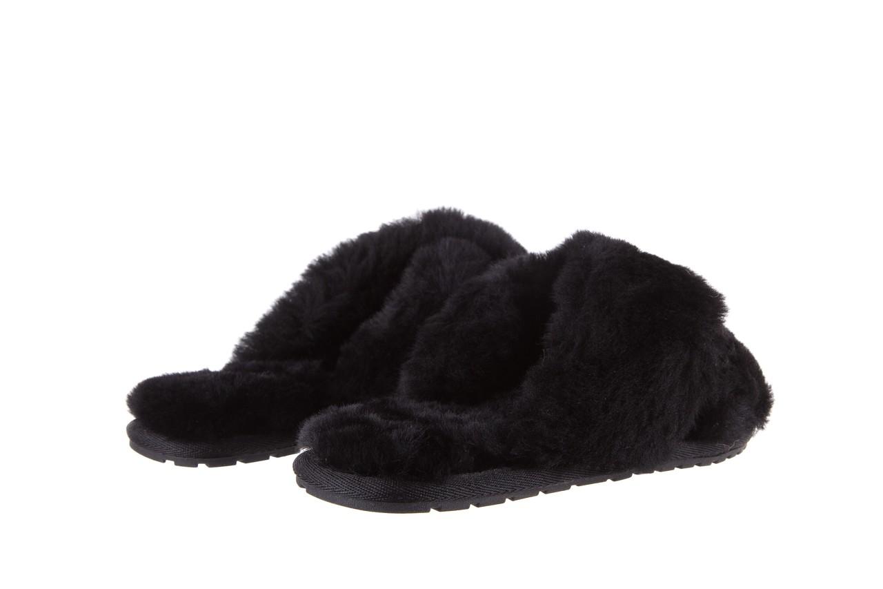 Klapki emu mayberry black, czarny, futro naturalne - kobieta 12
