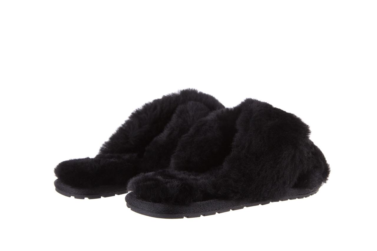 Klapki emu mayberry black 21 119127, czarny, futro naturalne  - klapki - buty damskie - kobieta 12