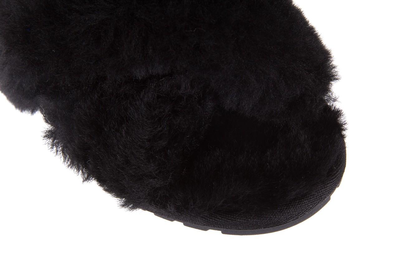 Klapki emu mayberry black, czarny, futro naturalne - kobieta 14