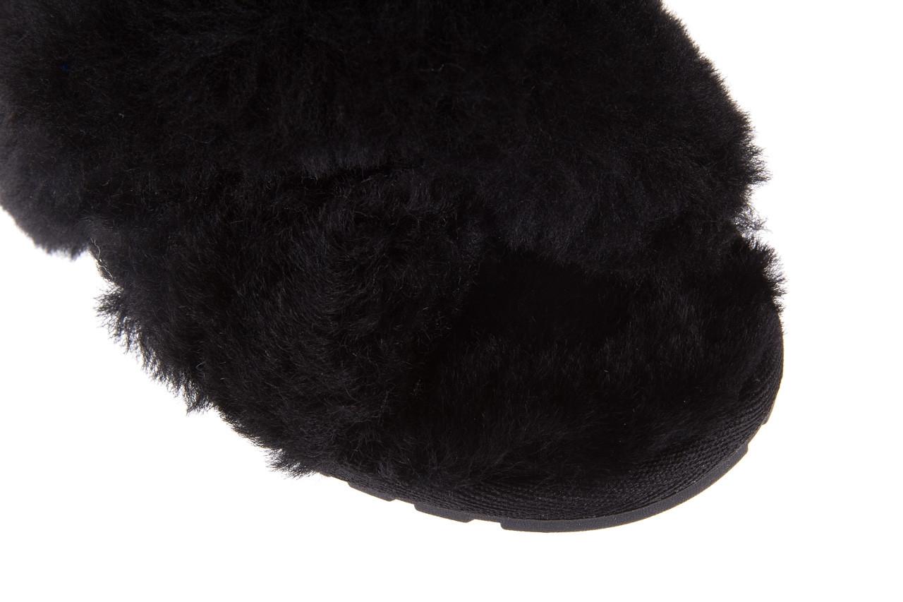 Klapki emu mayberry black 21 119127, czarny, futro naturalne  - klapki - buty damskie - kobieta 14