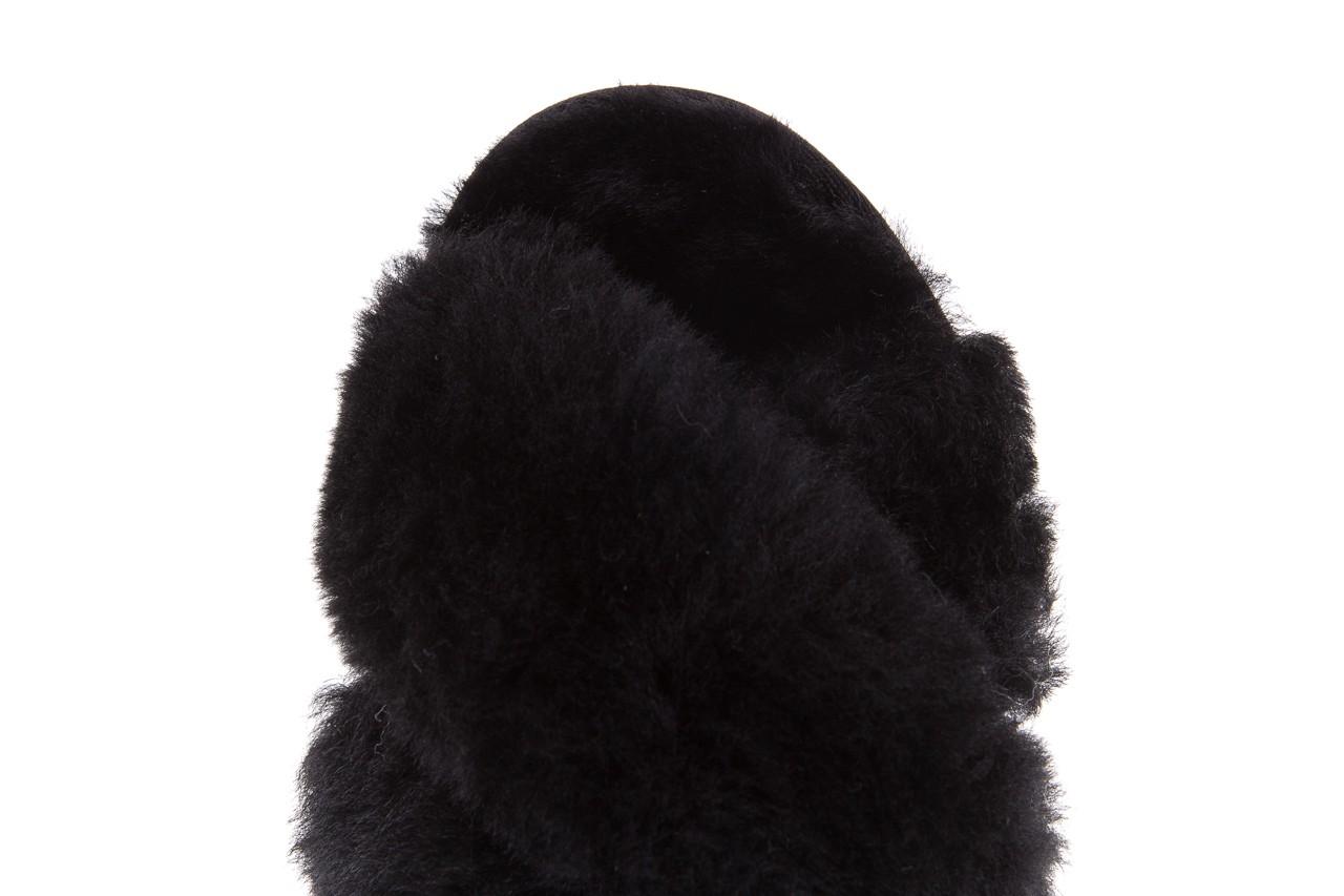 Klapki emu mayberry black, czarny, futro naturalne - kobieta 15