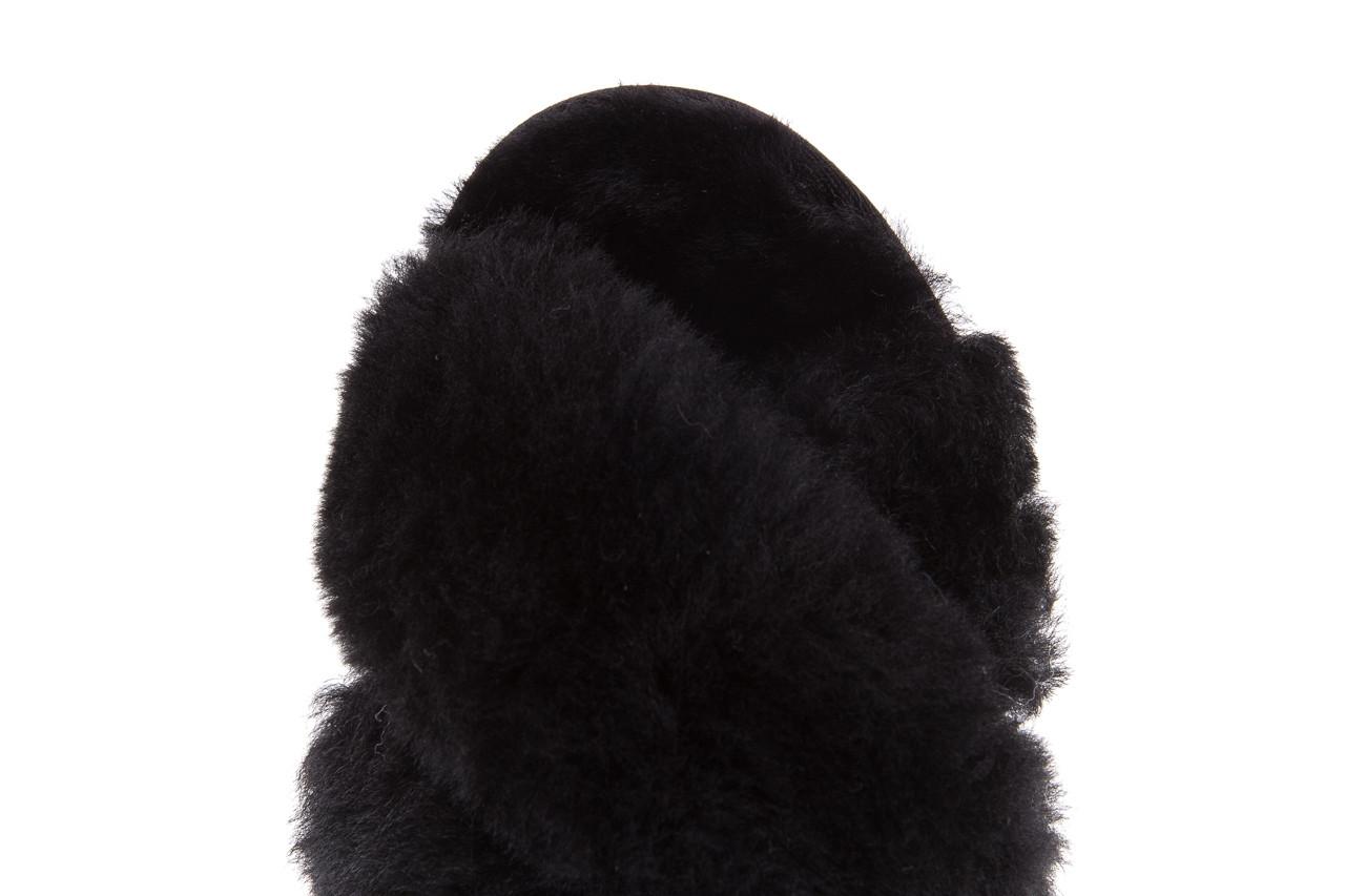 Klapki emu mayberry black 21 119127, czarny, futro naturalne  - klapki - buty damskie - kobieta 15
