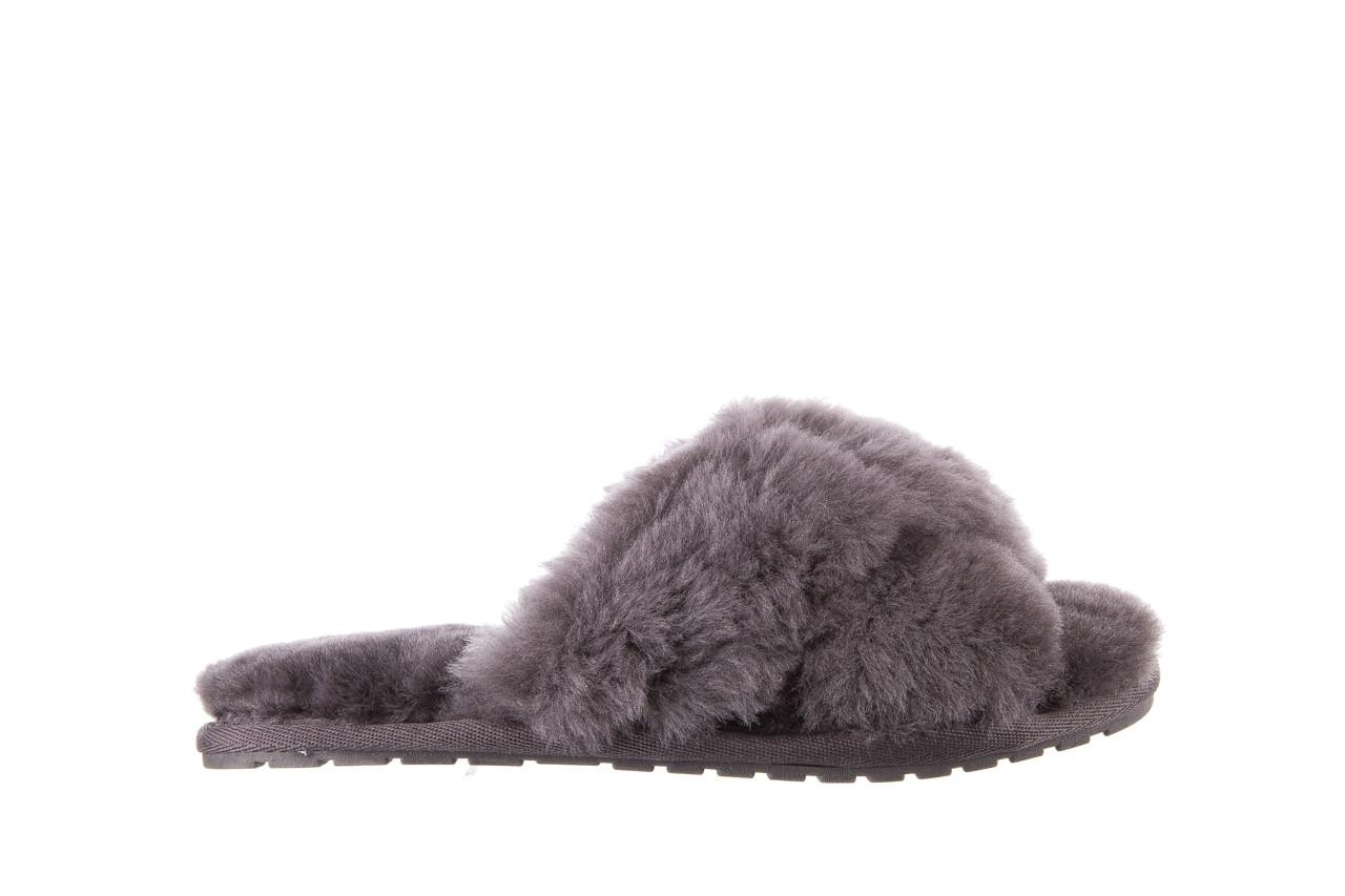 Kapcie emu mayberry charcoal 21 119128, szary, futro naturalne  - nowości 8