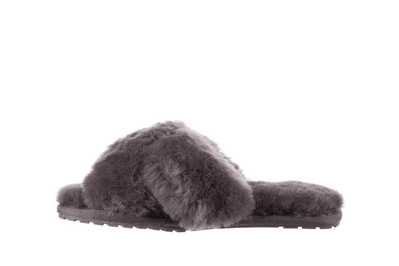 Klapki emu mayberry charcoal, szary, futro naturalne - emu - nasze marki 11