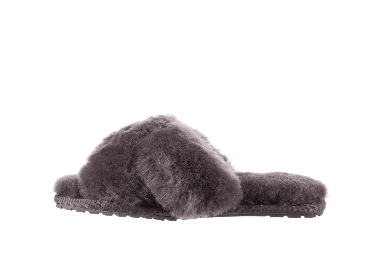 Kapcie emu mayberry charcoal 21 119128, szary, futro naturalne  - nowości 11