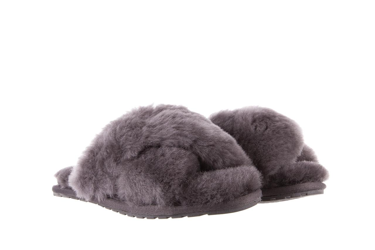 Kapcie emu mayberry charcoal 21 119128, szary, futro naturalne  - nowości 9