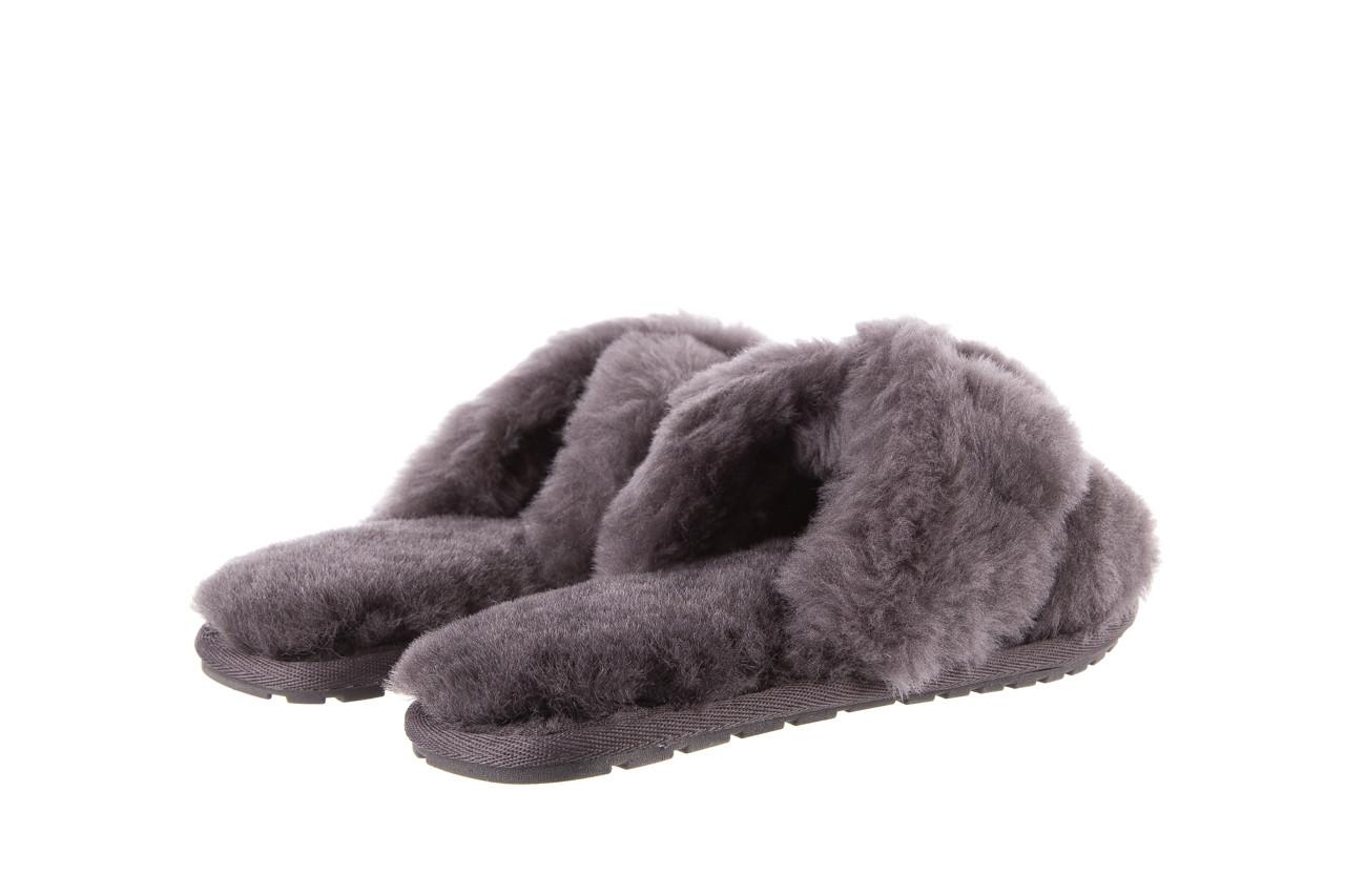 Kapcie emu mayberry charcoal 21 119128, szary, futro naturalne  - nowości 12
