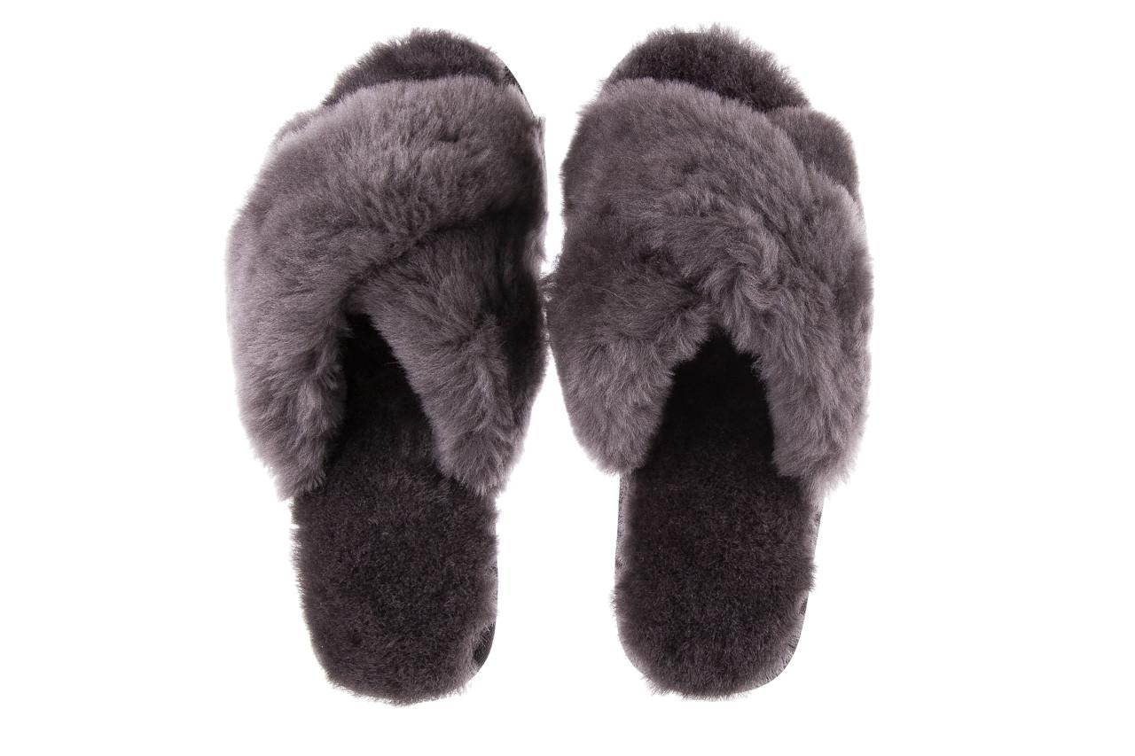 Kapcie emu mayberry charcoal 21 119128, szary, futro naturalne  - nowości 13