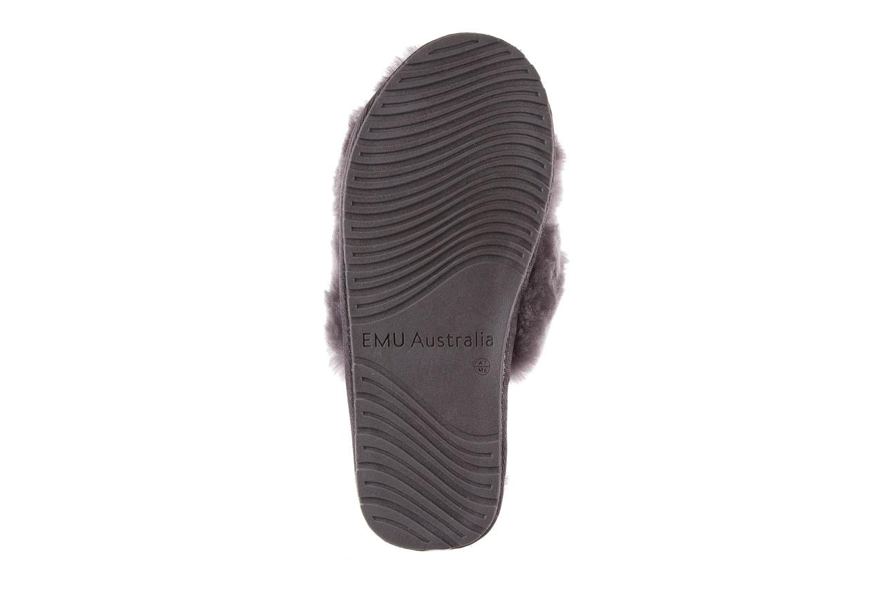 Kapcie emu mayberry charcoal 21 119128, szary, futro naturalne  - nowości 15