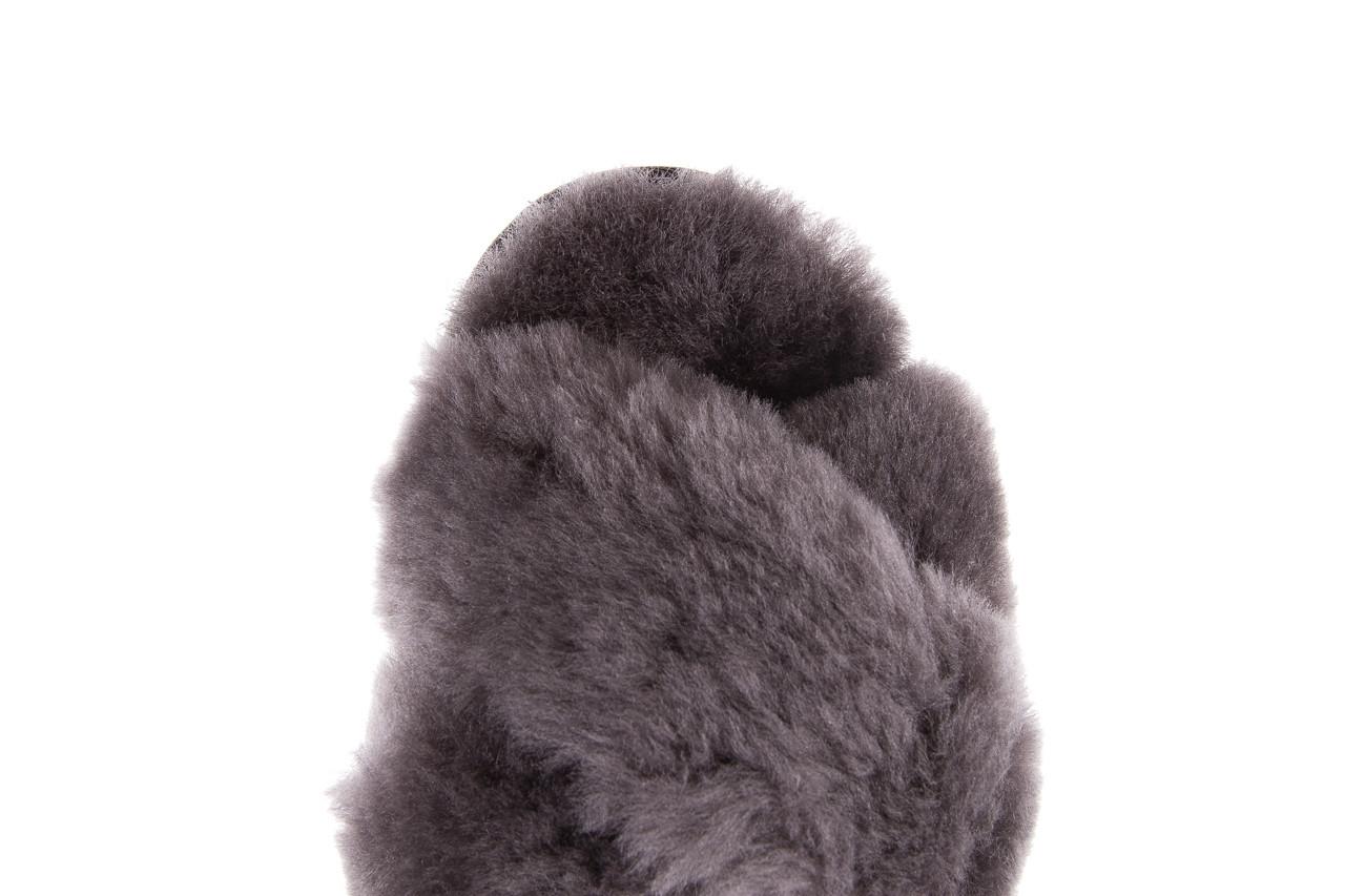 Kapcie emu mayberry charcoal 21 119128, szary, futro naturalne  - nowości 14