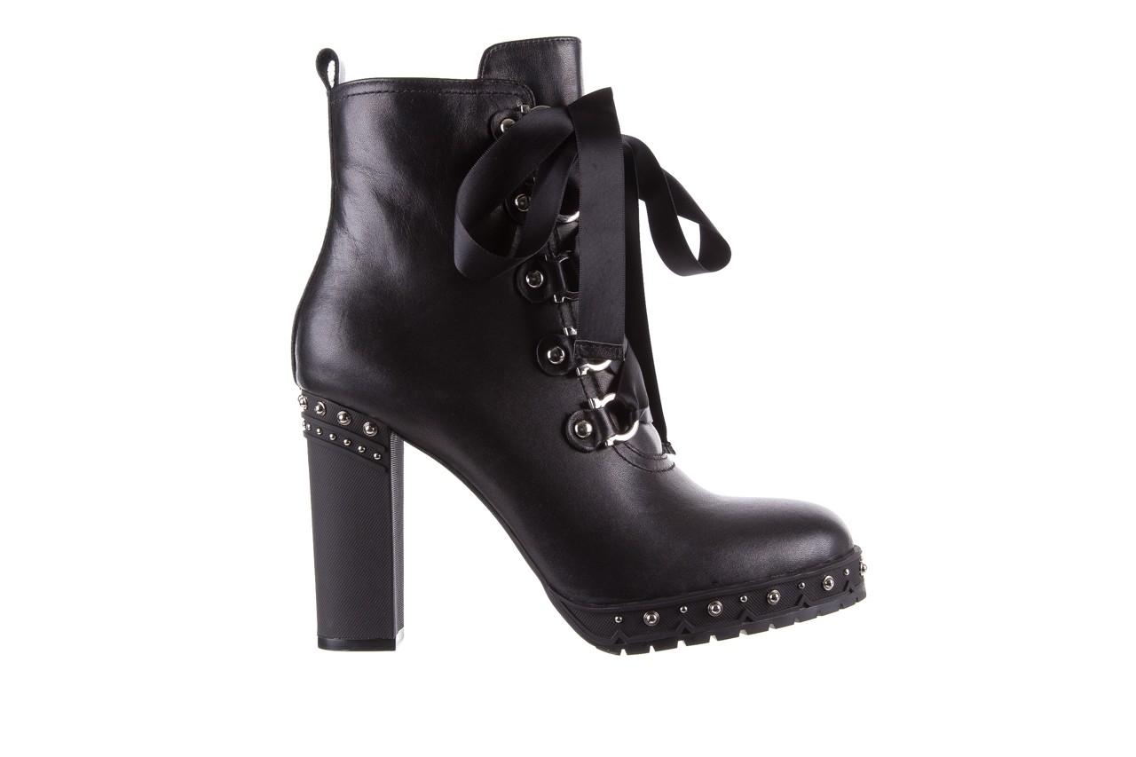 Botki bayla-144 9308 czarne botki 144020, skóra naturalna - worker boots - trendy - kobieta 9