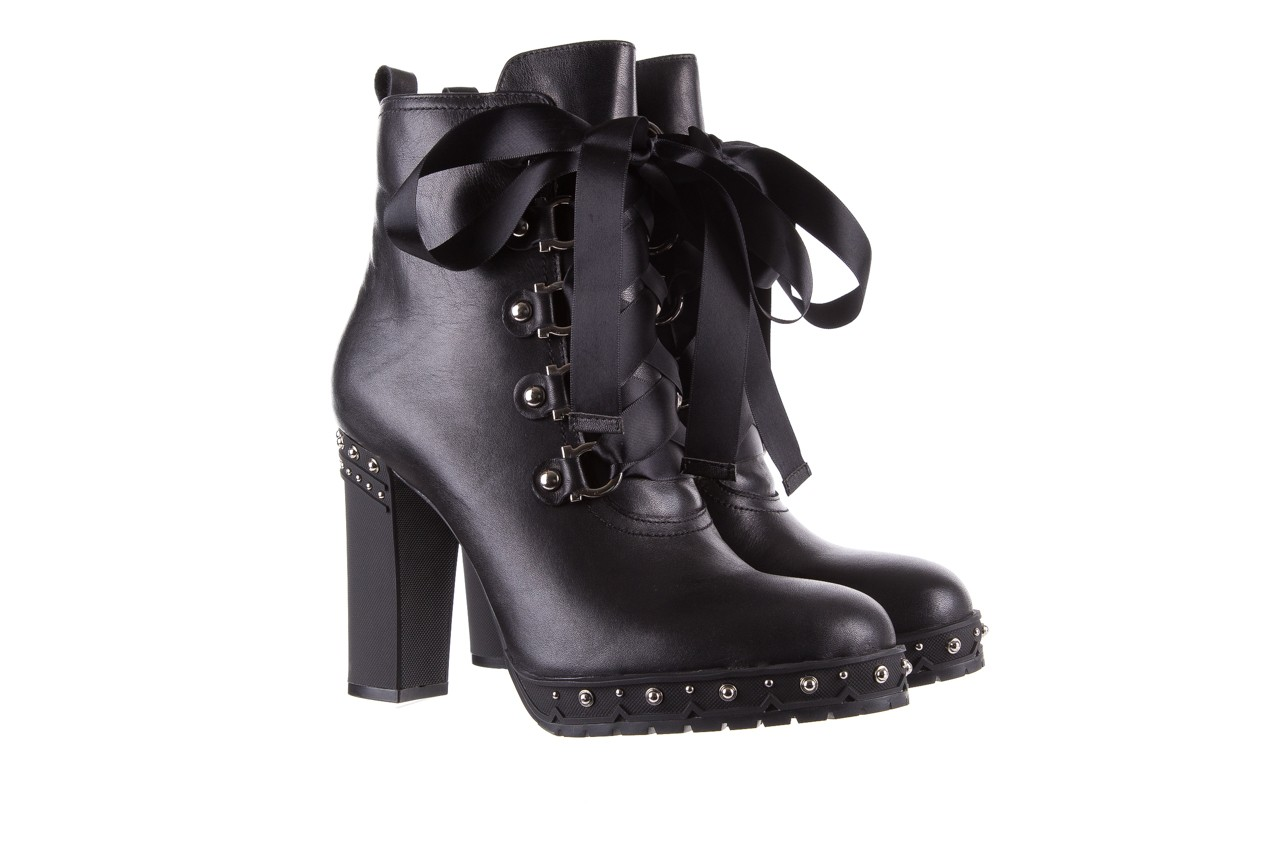 Botki bayla-144 9308 czarne botki 144020, skóra naturalna - worker boots - trendy - kobieta 10