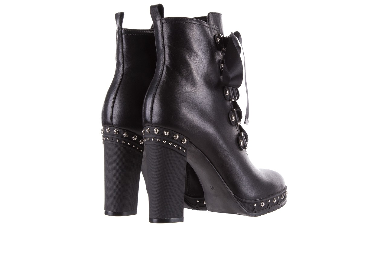 Botki bayla-144 9308 czarne botki 144020, skóra naturalna - worker boots - trendy - kobieta 13