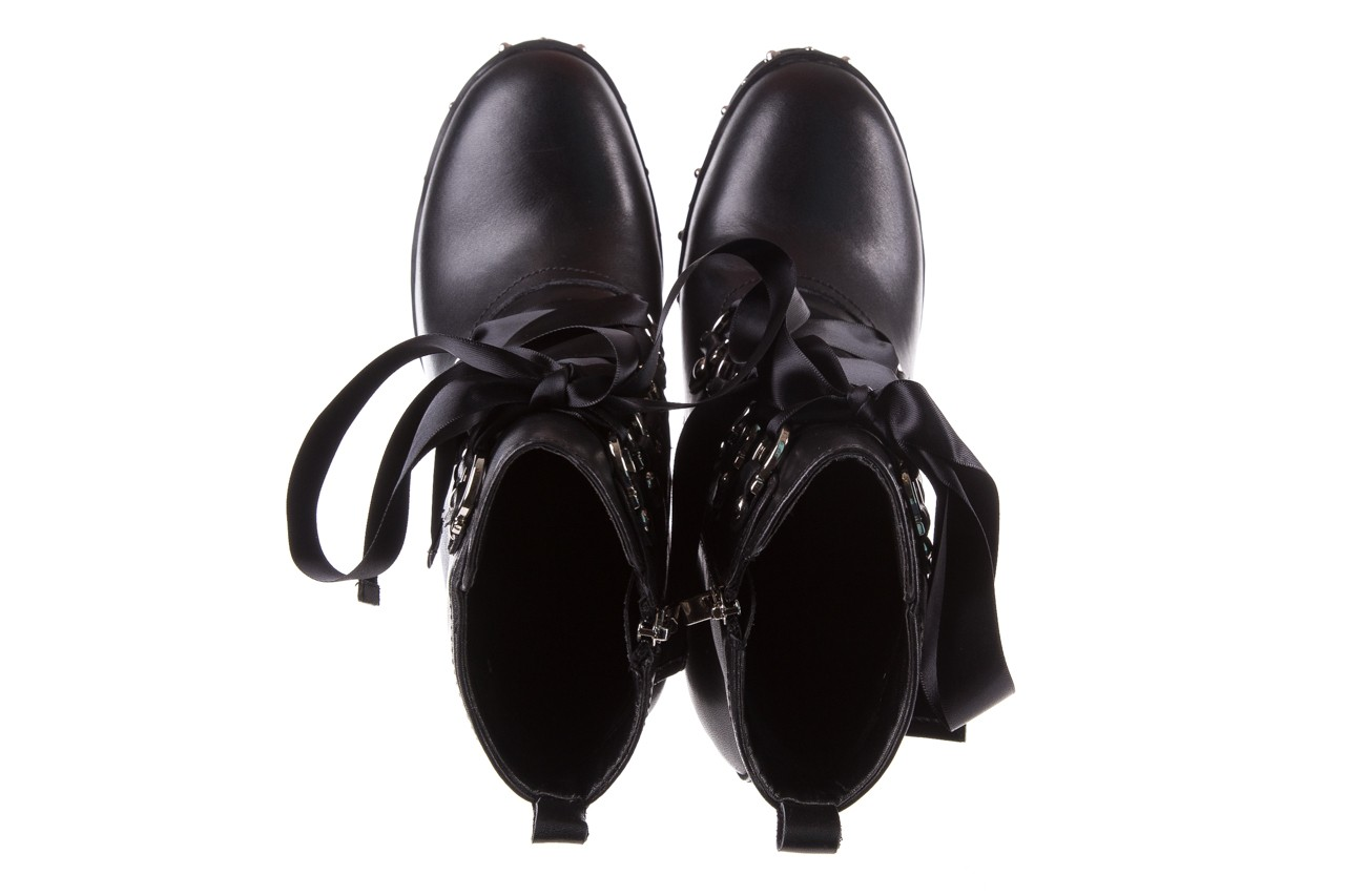 Botki bayla-144 9308 czarne botki 144020, skóra naturalna - worker boots - trendy - kobieta 14