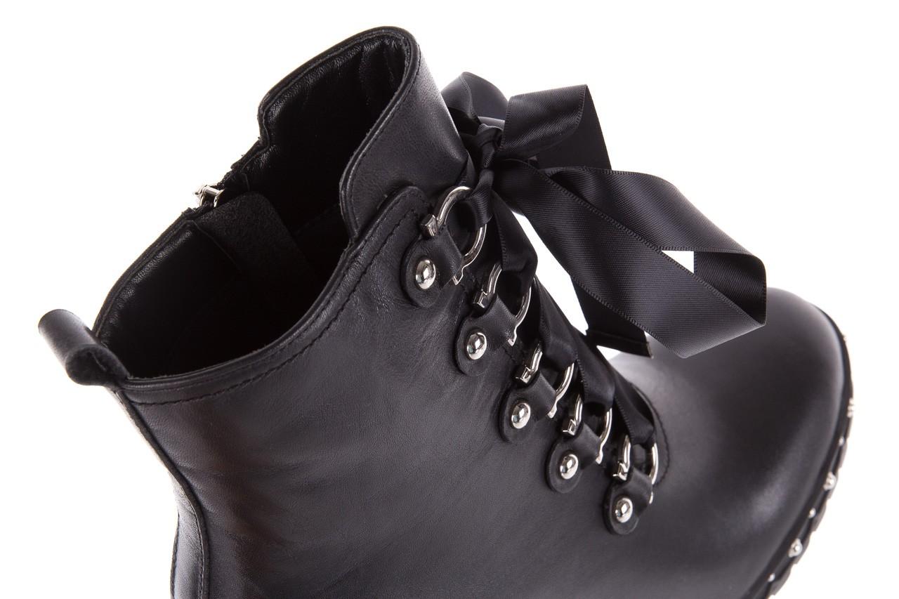 Botki bayla-144 9308 czarne botki 144020, skóra naturalna - worker boots - trendy - kobieta 15