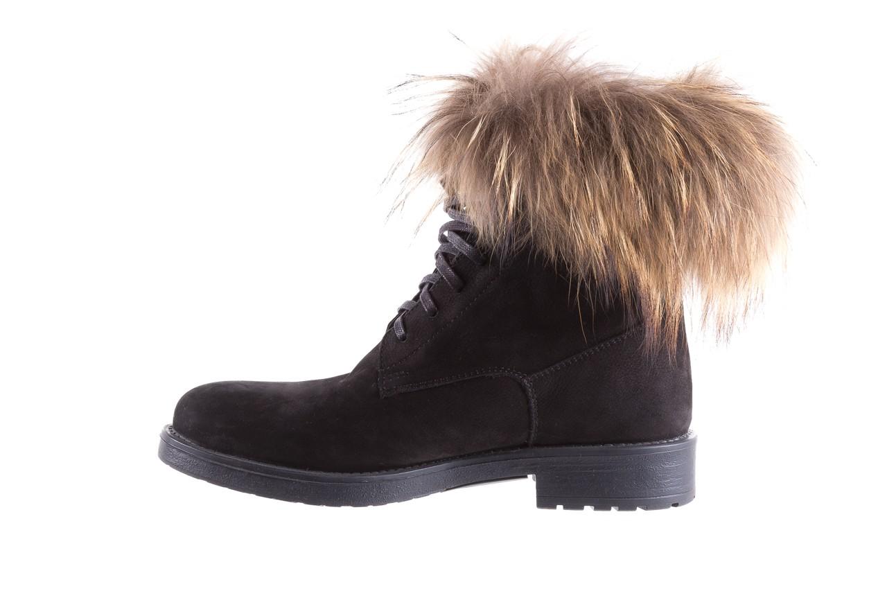 Trzewiki bayla-164 top 17 black 164005, czarny, skóra naturalna  - worker boots - trendy - kobieta 9