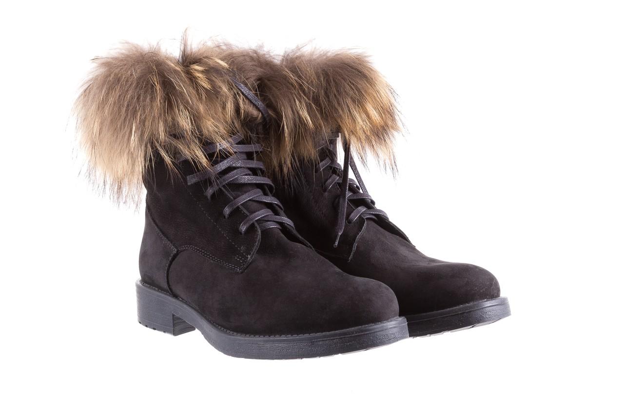 Trzewiki bayla-164 top 17 black 164005, czarny, skóra naturalna  - worker boots - trendy - kobieta 8