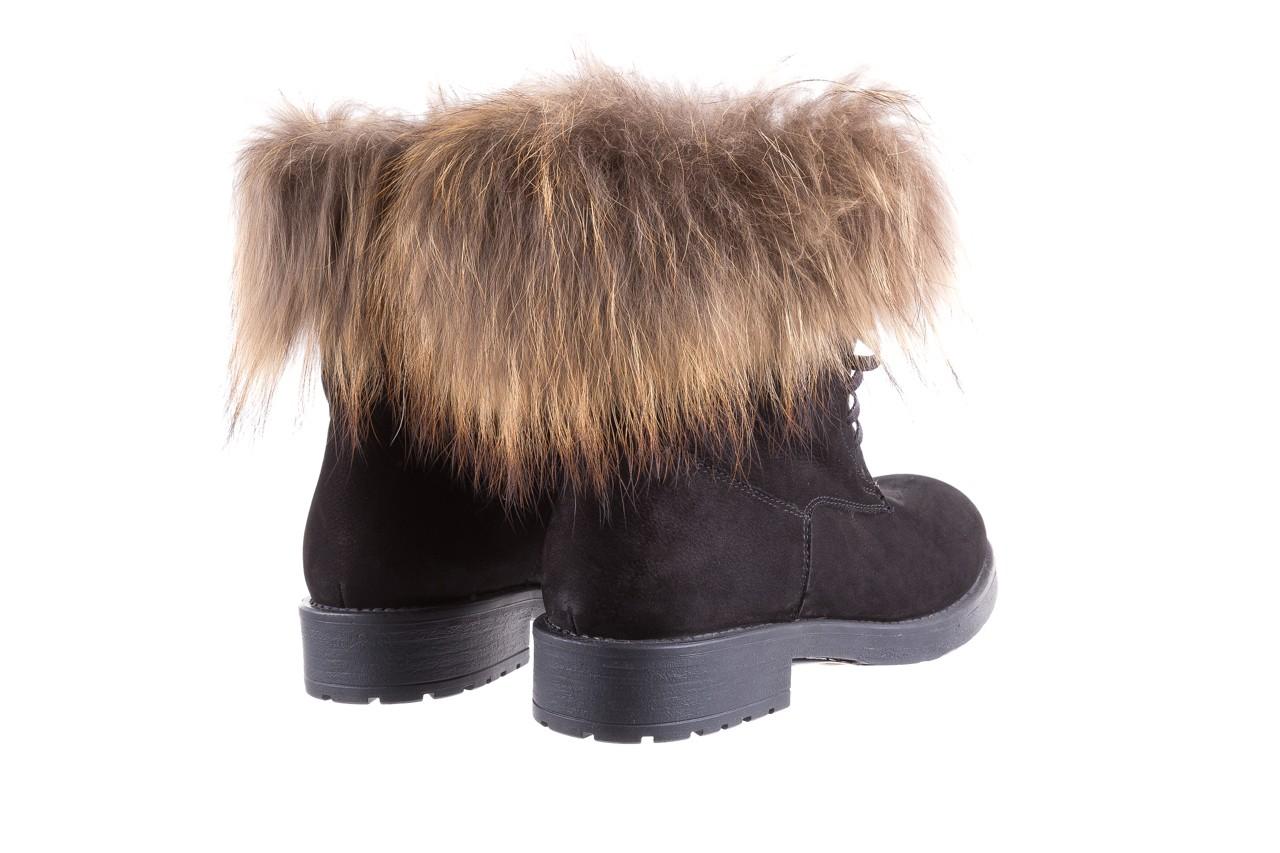 Trzewiki bayla-164 top 17 black 164005, czarny, skóra naturalna  - worker boots - trendy - kobieta 10