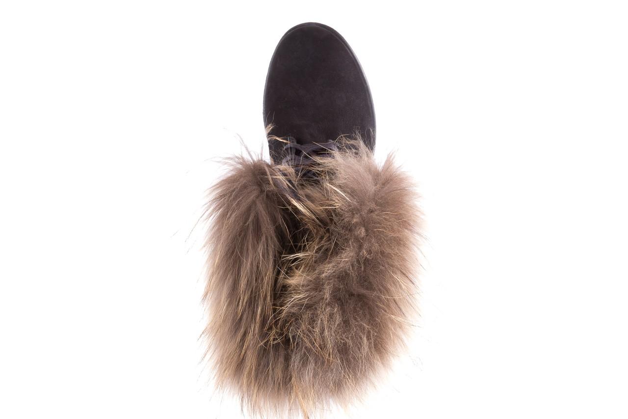 Trzewiki bayla-164 top 17 black 164005, czarny, skóra naturalna  - worker boots - trendy - kobieta 11