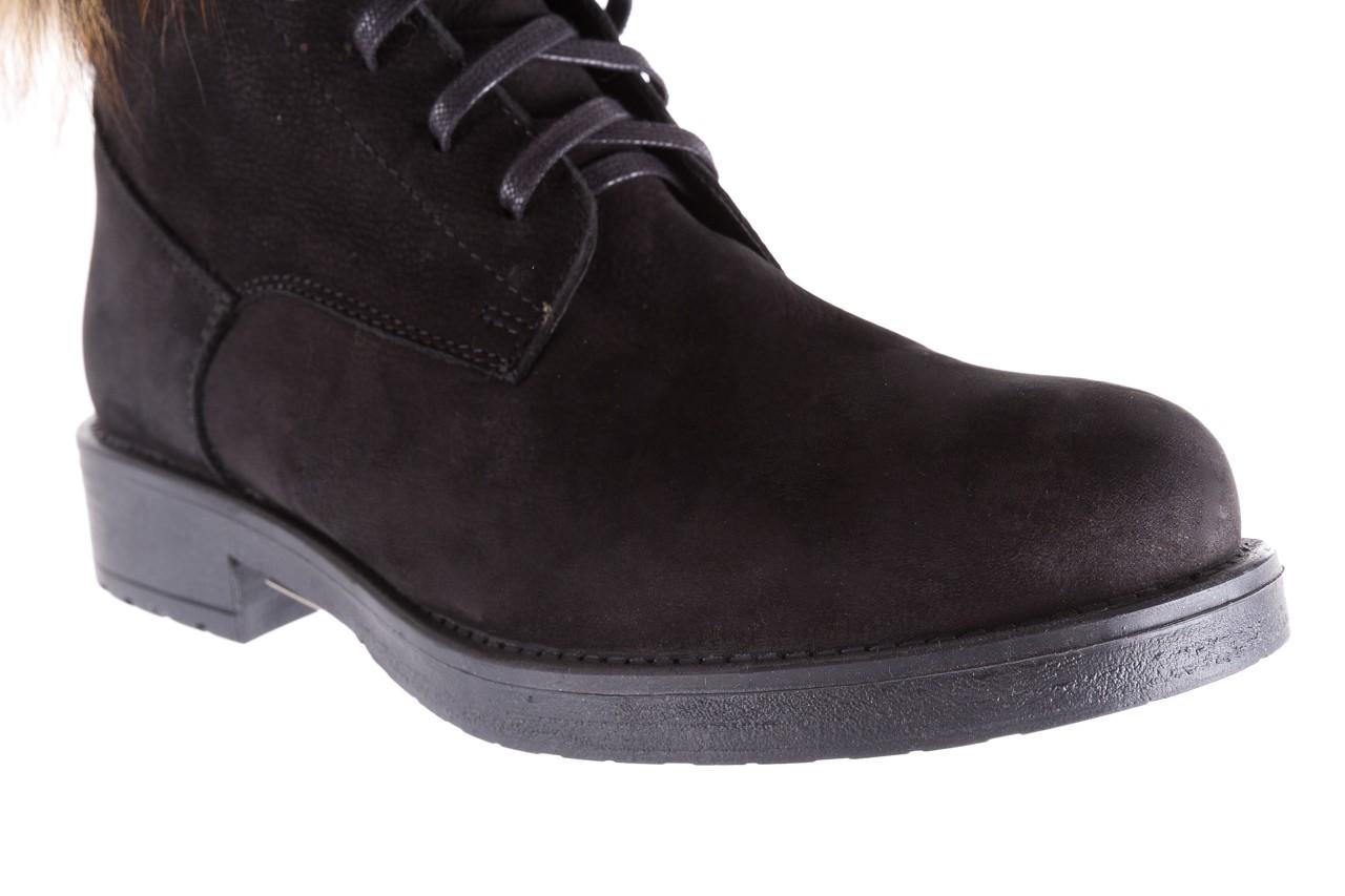 Trzewiki bayla-164 top 17 black 164005, czarny, skóra naturalna  - worker boots - trendy - kobieta 12