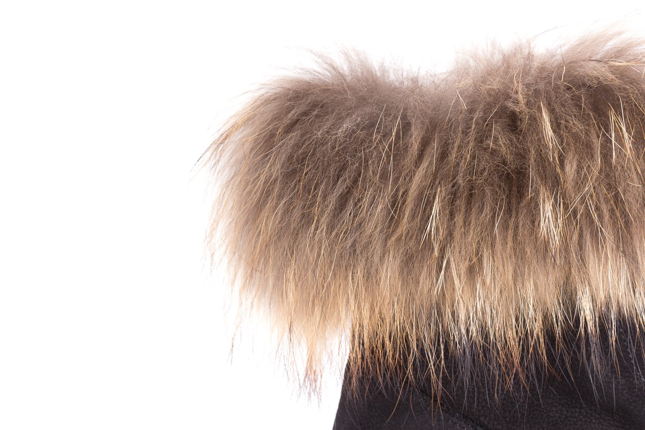 Trzewiki bayla-164 top 17 black 164005, czarny, skóra naturalna  - worker boots - trendy - kobieta 13
